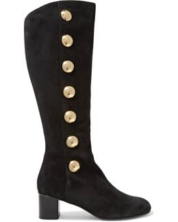 Orlando Studded Suede Knee Boots