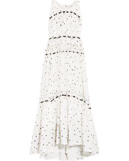Snowbird Gathered Printed Silk-chiffon Maxi Dress