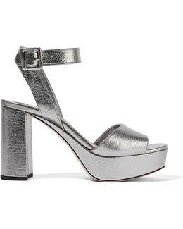 Textured-leather Platform Sandals