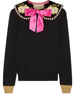 Embellished Cashmere And Silk-blend Sweater