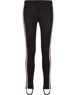 Striped Tech-jersey Leggings