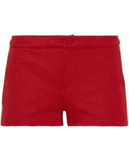 Ribbed Knit-trimmed Tech-jersey Shorts