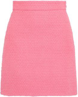 Cotton-blend Tweed Mini Skirt