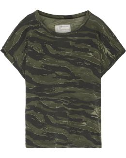 The Rolled Crew Camouflage-print Cotton-jersey T-shirt