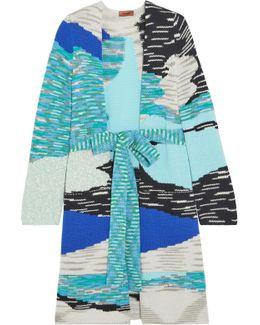 Intarsia Wool-blend Cardigan