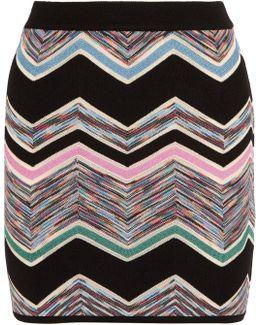 Zigzag Wool-blend Mini Skirt