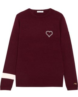 Embroidered Cashmere Sweater
