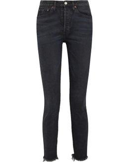 Originals Frayed High-rise Skinny Jeans
