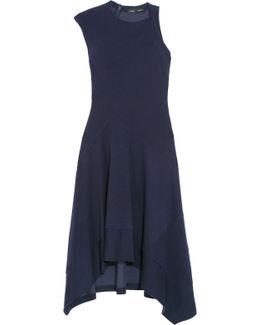 Asymmetric Double-faced Jersey Dress