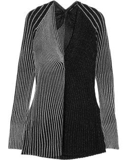 Two-tone Ribbed Lurex Sweater