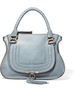 Marcie Medium Textured-leather Tote