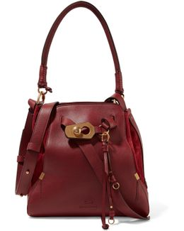 Owen Medium Textured-leather And Suede Shoulder Bag