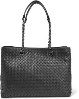 Shopper Large Intrecciato Leather Tote