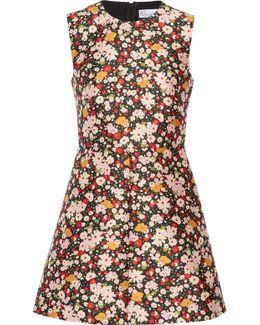 Chelsea Floral-jacquard Mini Dress