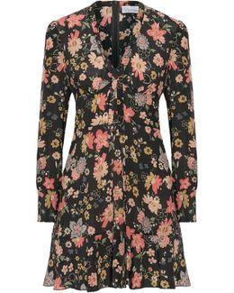 Floral-print Silk-georgette Mini Dress