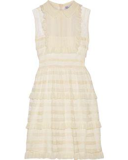 Ruffled Point D'esprit Tulle Mini Dress