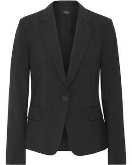 Gabe Wool-blend Crepe Blazer