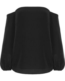 Laureema Off-the-shoulder Silk Crepe De Chine Top