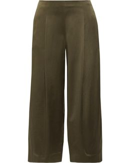 Zavabell Silk-satin Wide-leg Pants