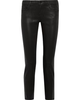Hipster Coated Low-rise Skinny Jeans