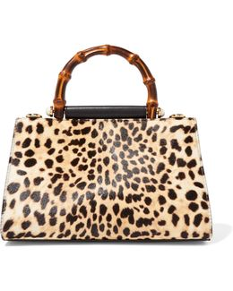 Nymphaea Mini Leopard-print Calf Hair And Leather Tote