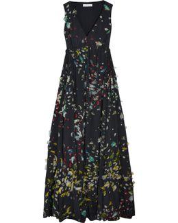 Fil Coupé Silk Maxi Dress