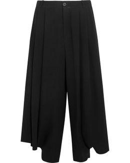 Cropped Crepe Wide-leg Pants