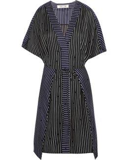 Striped Silk Mini Dress