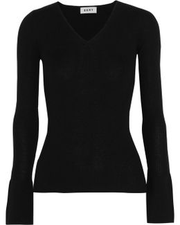 Ribbed Silk, Wool And Cashmere-blend Sweater