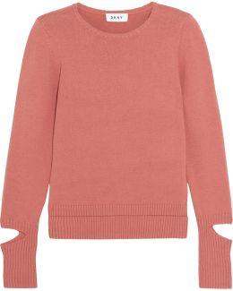 Cutout Cotton-blend Sweater