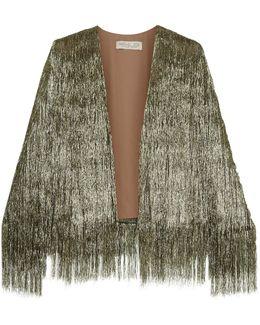 Isla Fringed Open-Knit Jacket
