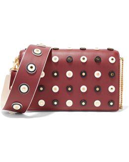 Soirée Embellished Leather Shoulder Bag