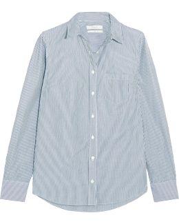 Boy Striped Cotton-poplin Shirt