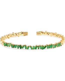 18-karat Gold Emerald Cuff