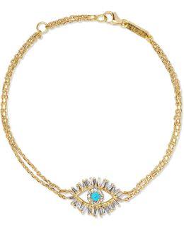 18-karat Gold, Diamond And Turquoise Bracelet