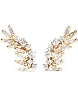 18-karat Yellow And White Gold Diamond Earrings