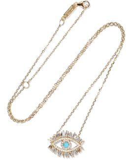 Evil Eye Fireworks 18-karat Gold, Diamond And Turquoise Necklace