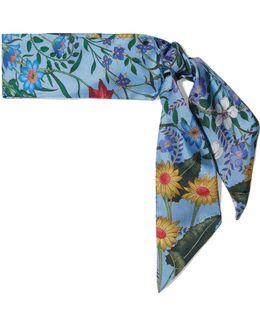 Floral-print Silk-twill Scarf