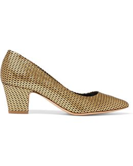 Pierre Metallic Suede Pumps