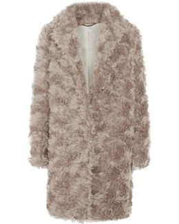 Toti Mohair, Cotton And Wool-blend Faux Shearling Coat