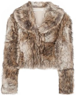 Masha Cropped Faux Fur Coat