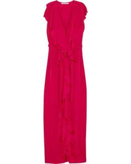 Rasalia Ruffled Crepe Gown