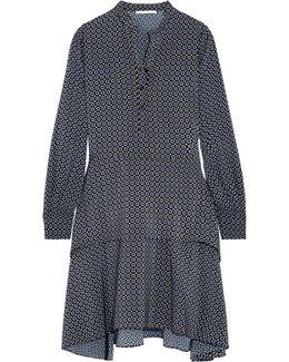 Dakota Layered Printed Silk Dress