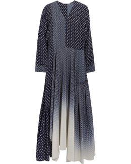 Dominique Oversized Silk Crepe De Chine Maxi Dress