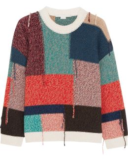 Oversized Patchwork Wool Sweater