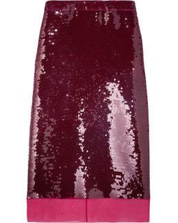 Margot Sequined Silk-mousseline Skirt