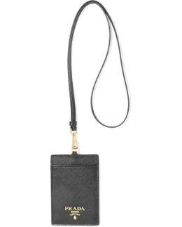Textured-leather Luggage Tag