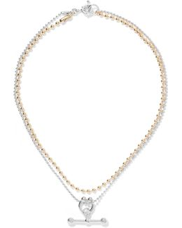 Gold And Rhodium-plated Necklace