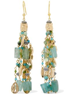 Chela Gold-tone Beaded Earrings