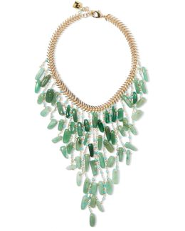Lisca Beaded Gold-tone Necklace